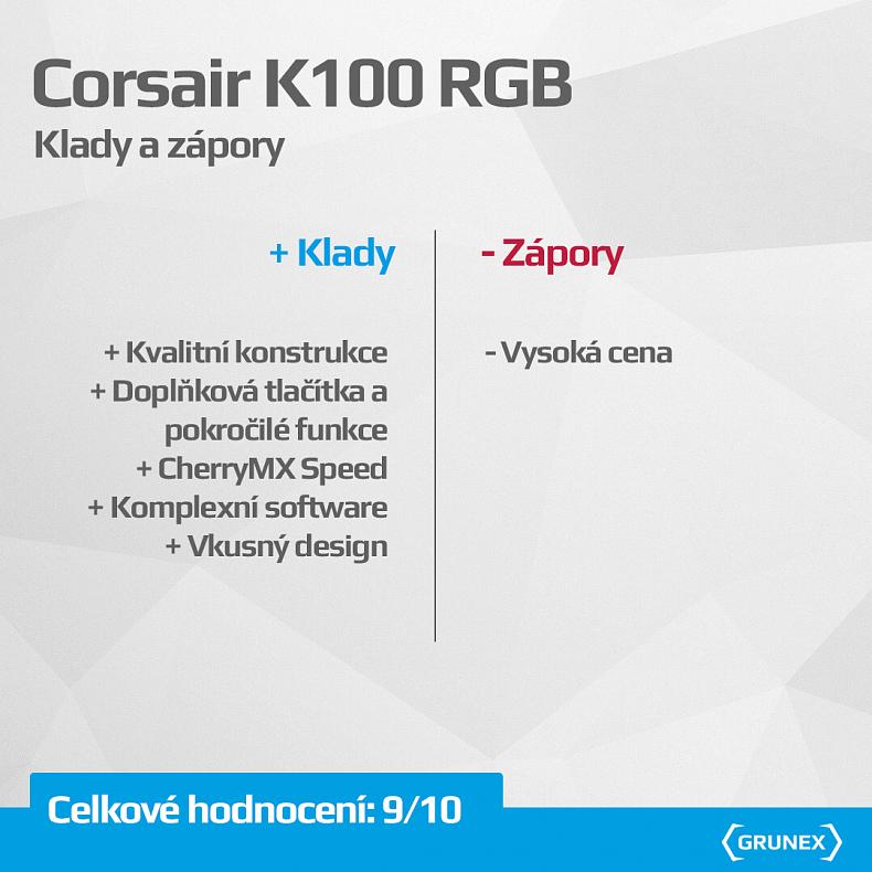 Corsair K100 RGB herní klávesnice recenze