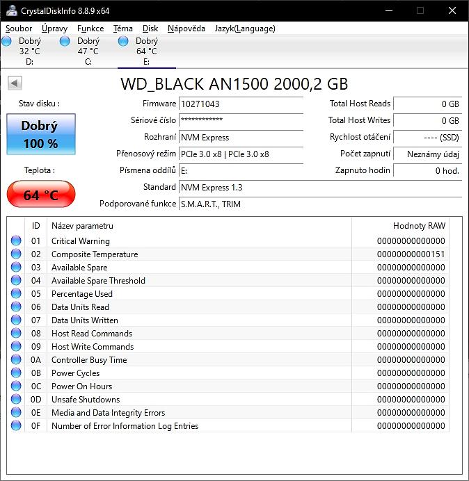 Recenze WD Black AN1500 RGB SSD