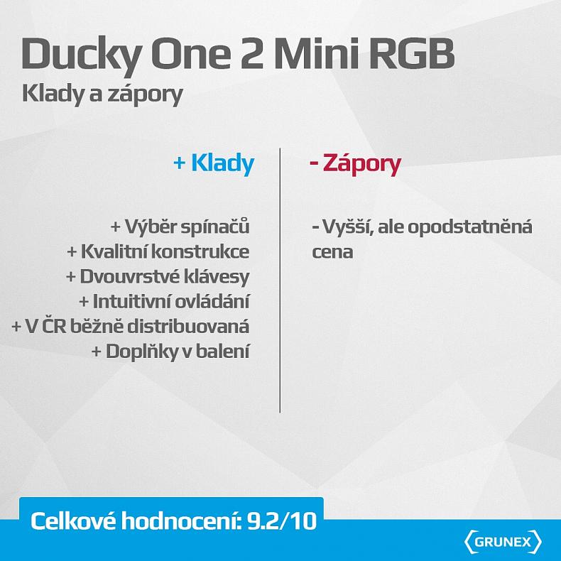 Recenze dojmy zkušenost Ducky One 2 Mini RGB