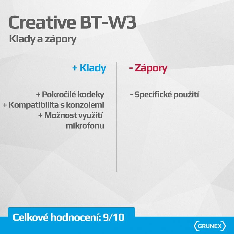Creative BT-W3 recenze