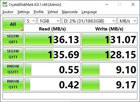 Rychlost externí disk WD_BLACK P10