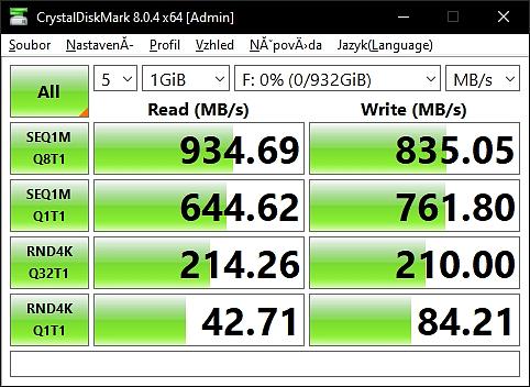 WD_BLACK D30 externí SSD rychlost
