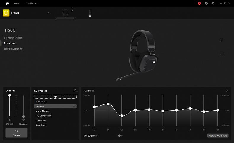 Corsair iCUE software recenze sluchátka