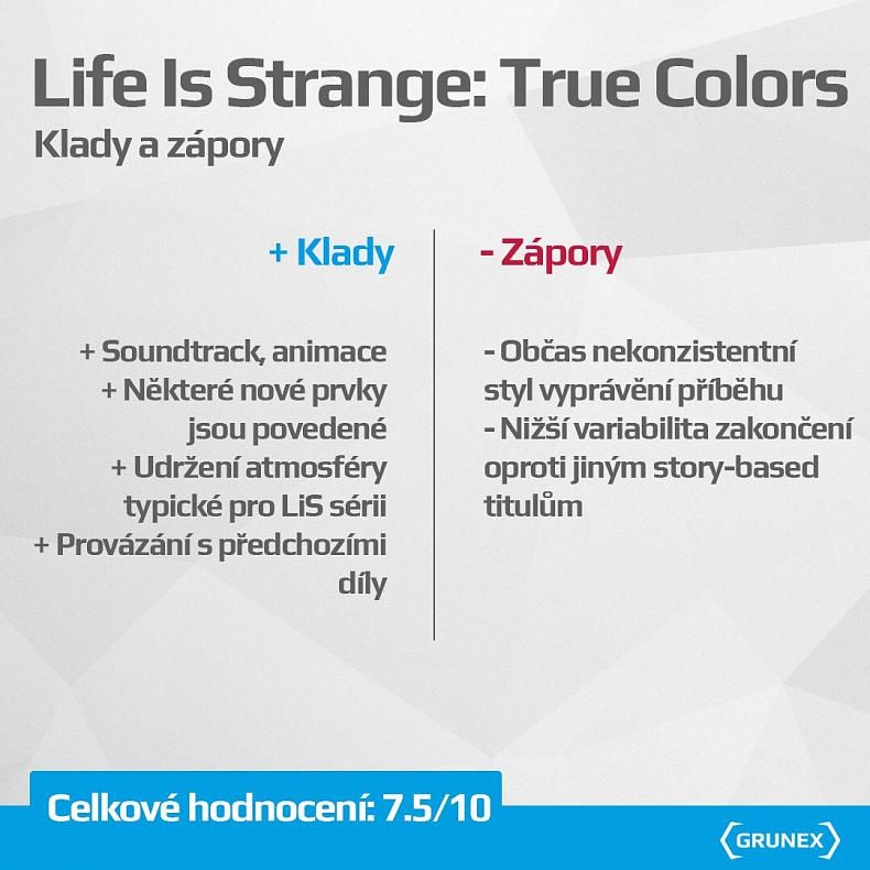 Life Is Strange recenze True Colors