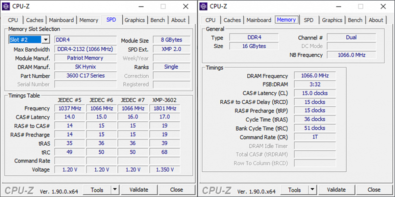 Default CPU-Z Patriot Viper Blackout Ram