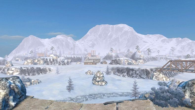 Pohled na novou zimní mapu