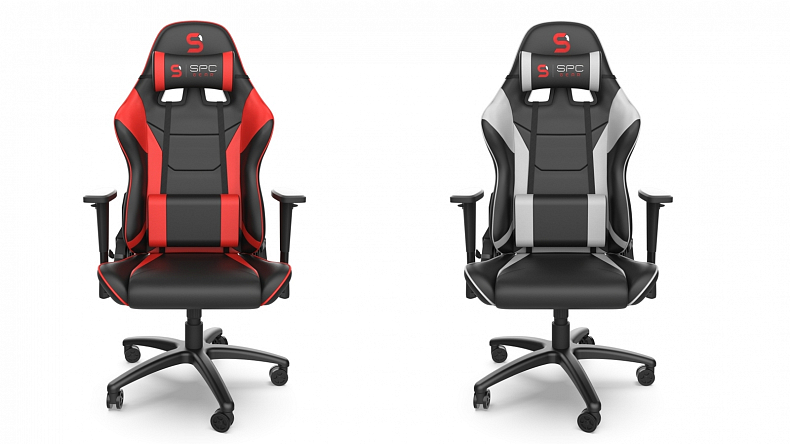 Herní židle SPC Gear červená a bílá