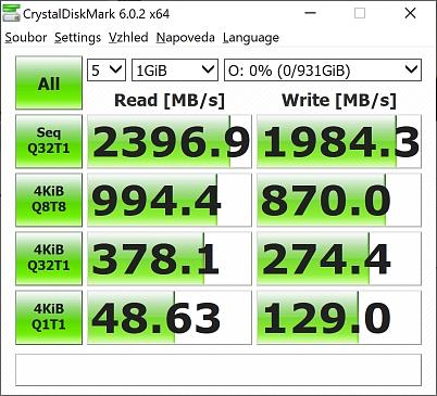 WD Western Digital SSD SN550 rychlost