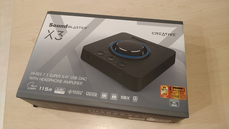 Creative Sound Blaster X3 balení