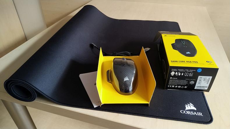 Herní bezdrátová myš Corsair Dark Core RGB Pro