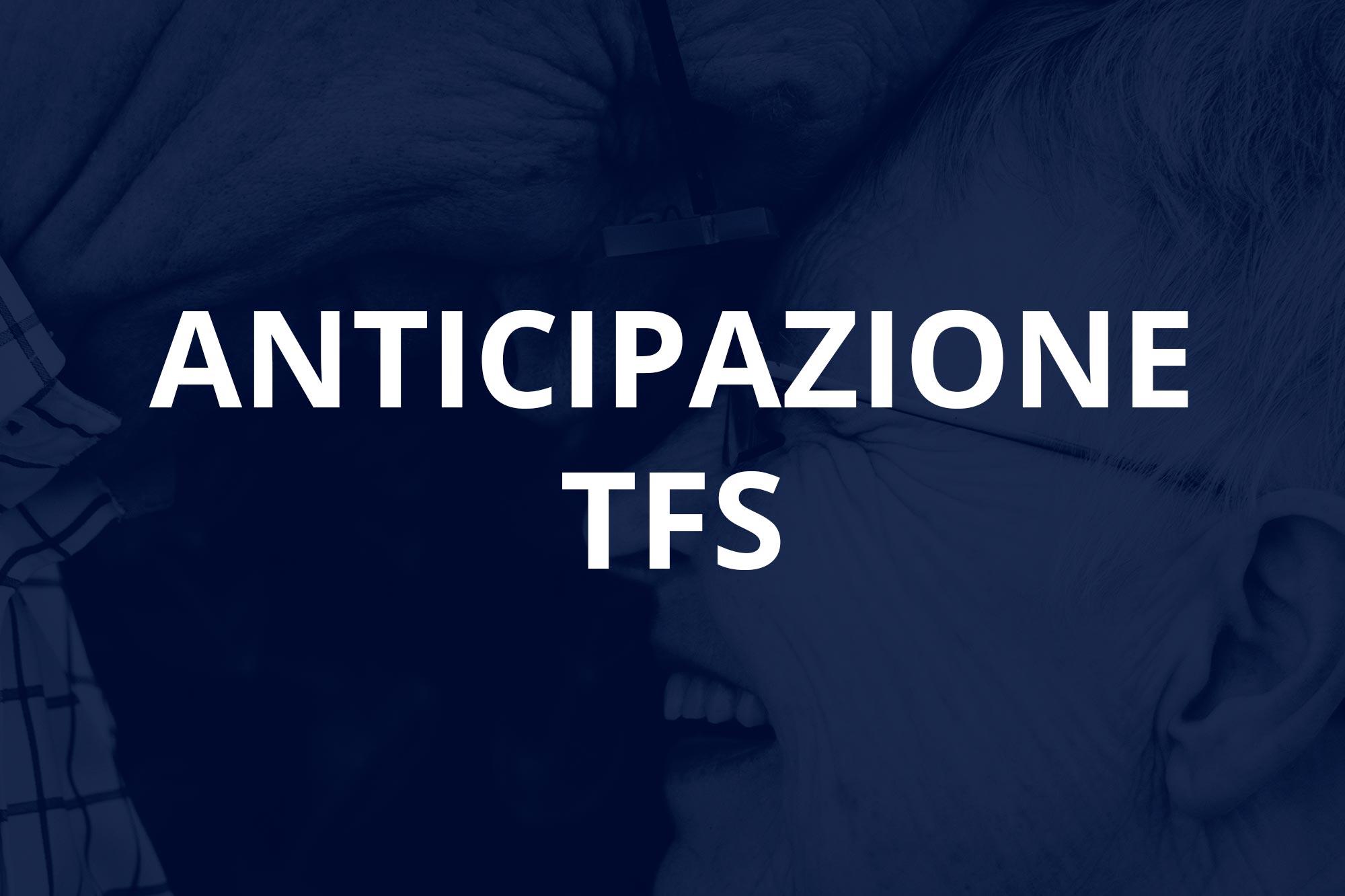 Anticipazione TFS   Realizziamo i tuoi sogni   Gruppo