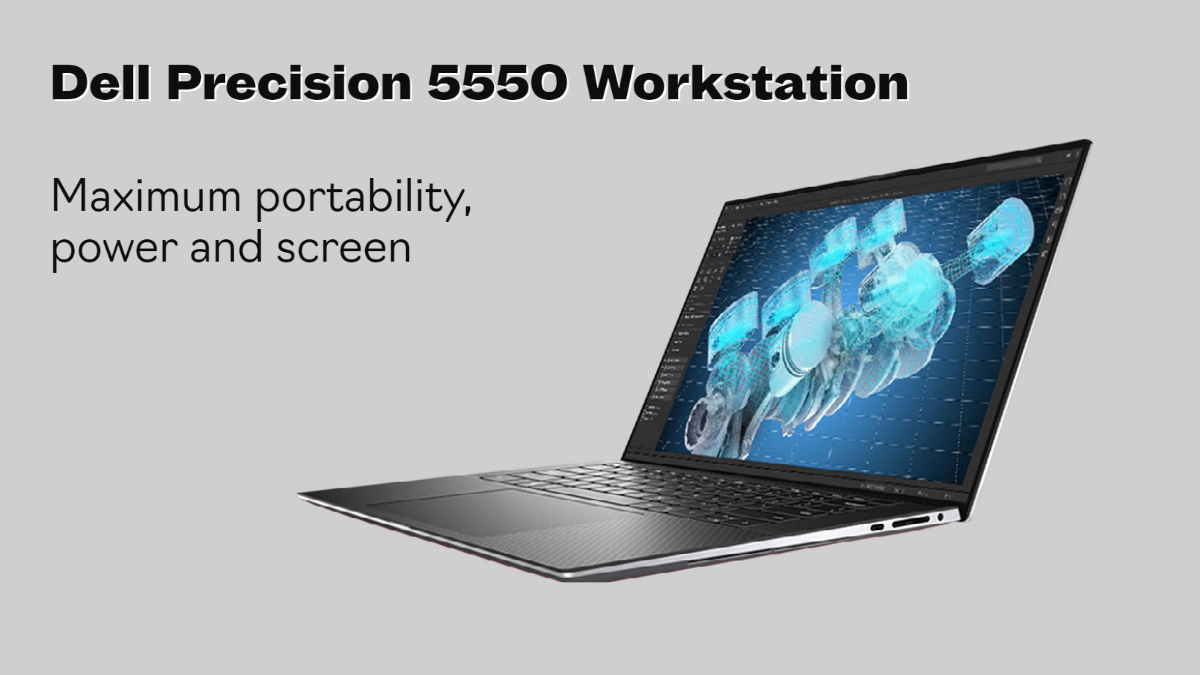 Precision 5550 is the thinnest workstation with edgeless screen and powerful components.