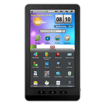 Ematic eGlide 7-inch Android 2.1 Tablet EBW404