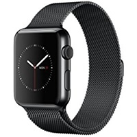 Apple Watch Series 3 42mm Stainless Steel Case with Milanese Loop (2017)