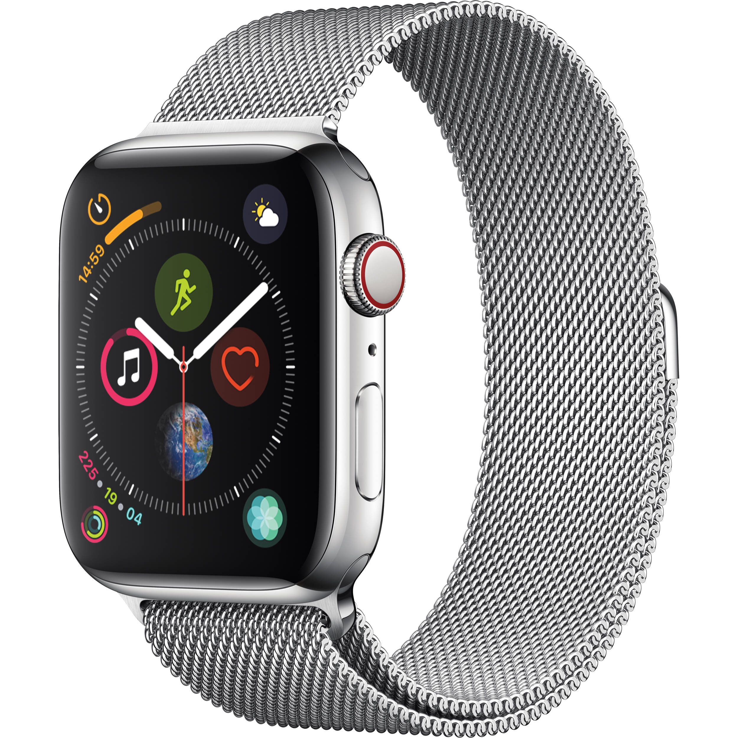 Apple Watch Series 4 Stainless Steel Case with Milanese Loop 44mm (GPS + Cellular)
