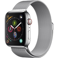 Apple Watch Series 4 Stainless Steel Case with Milanese Loop 44mm - GPS + Cellular