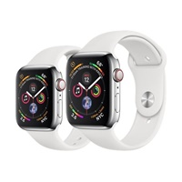 Apple Watch Series 4 Stainless Steel Case with Sport Band 44mm (GPS + Cellular)