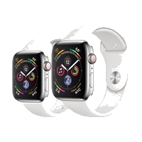 Apple Watch Series 4 Stainless Steel Case with Sport Band 44mm - GPS + Cellular