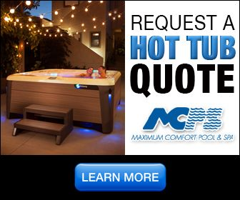 An example of a request a quote ad for a hot tub