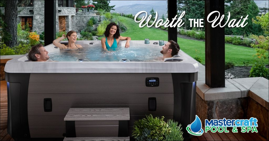 Example of special promotion of a hot tub