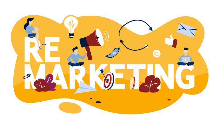 An illustration showing remarketing matters to small business