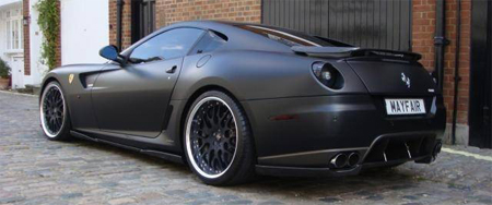 thanks to dmc for the tip - Matte Black Ferrari 599