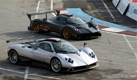 Video: Pagani Zonda on Track at Bologna Motor Show - GTspirit