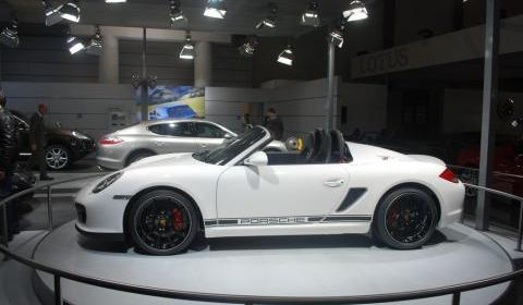 Porsche Boxster Spyder Makes European Debut In Brussels Gtspirit
