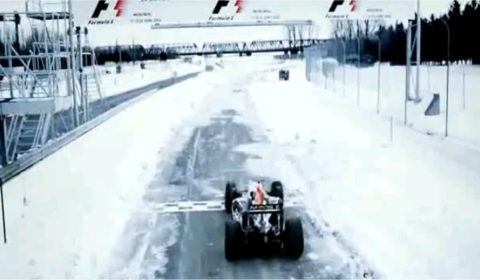 Video: Red Bull F1 Car On Frozen Lake 480x280