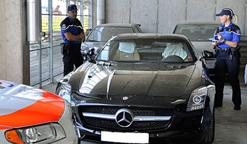 Mercedes SLS AMG impounded by Swiss police