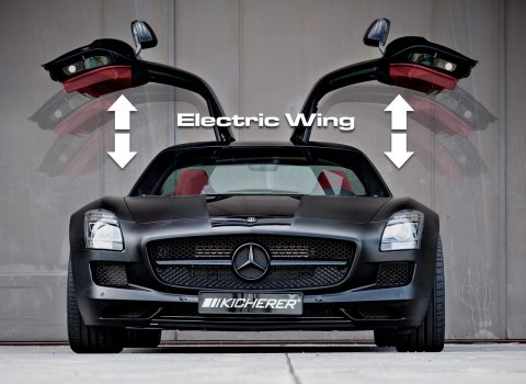 Wing doors mercedes eco car gull wing doors timber steel for Mercedes benz with wing doors