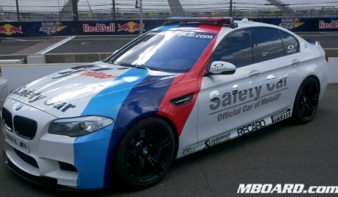 This is the BMW F10M M5 Safety Car for MotoGP