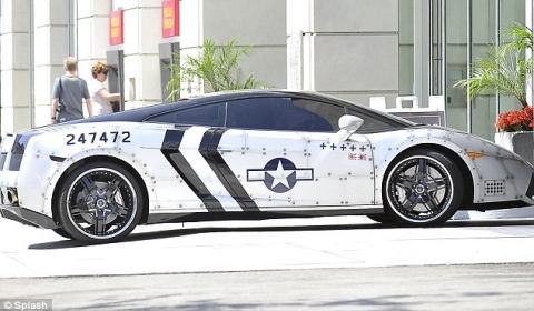 Chris Brown's Fighter Jet Styled Lamborghini Gallardo