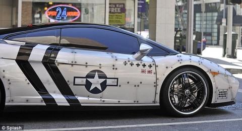 Chris Brown's Fighter Jet Styled Lamborghini Gallardo 01
