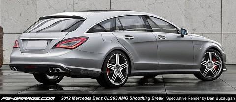 2012 Mercedes-Benz CLS 63 AMG Shooting Brake Rendering
