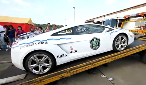 Video Lamborghini Gallardo Policia de Panamá