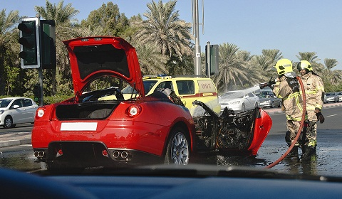 Ferrari 599 GTB Fire in Dubai