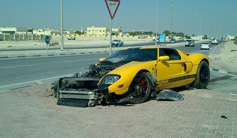 Ford GT Wreck in Qatar
