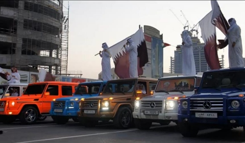 Mercedes-Benz G55 AMG Parade at Qatar National Day