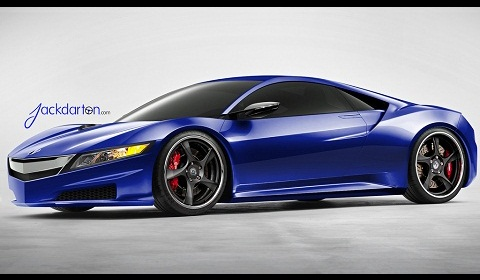 Rendering Acura Nsx Concept On Hre 792rs Wheels Gtspirit
