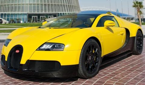 Bugatti Veyron Grand Sport Yellow Black Carbon at Qatar Motor Show