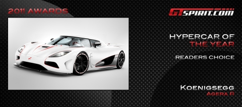 Hypercar of the Year 2011 Readers' Choice
