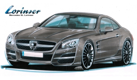 Rendering: 2013 Mercedes-Benz SL-Class by Lorinser - GTspirit
