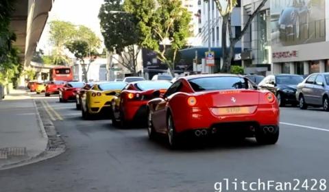 Video Ferrari Gathering In Singapore With 36 Cars Gtspirit