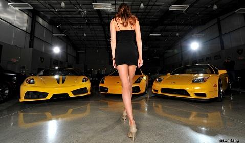 Cars Girls Yellow Supercars And Models Gtspirit