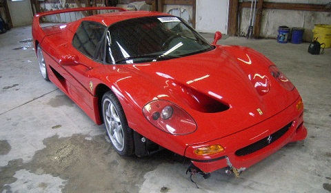 Ferrari F50 Wrecked By FBI For Sale