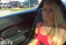 Sexy Jenni in a Porsche Carrera GT