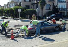 Porsche 911 Accident Cement San Francisco