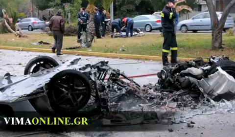 Car Crash Greek Entrepreneur Wrecked His Ferrari F430