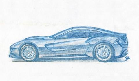 Ferrari F620 GT sketch
